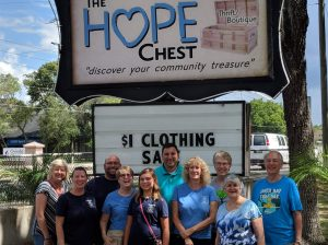 TPC members in front of The HOPE Chest, HOPE Helps' retail store in Oviedo